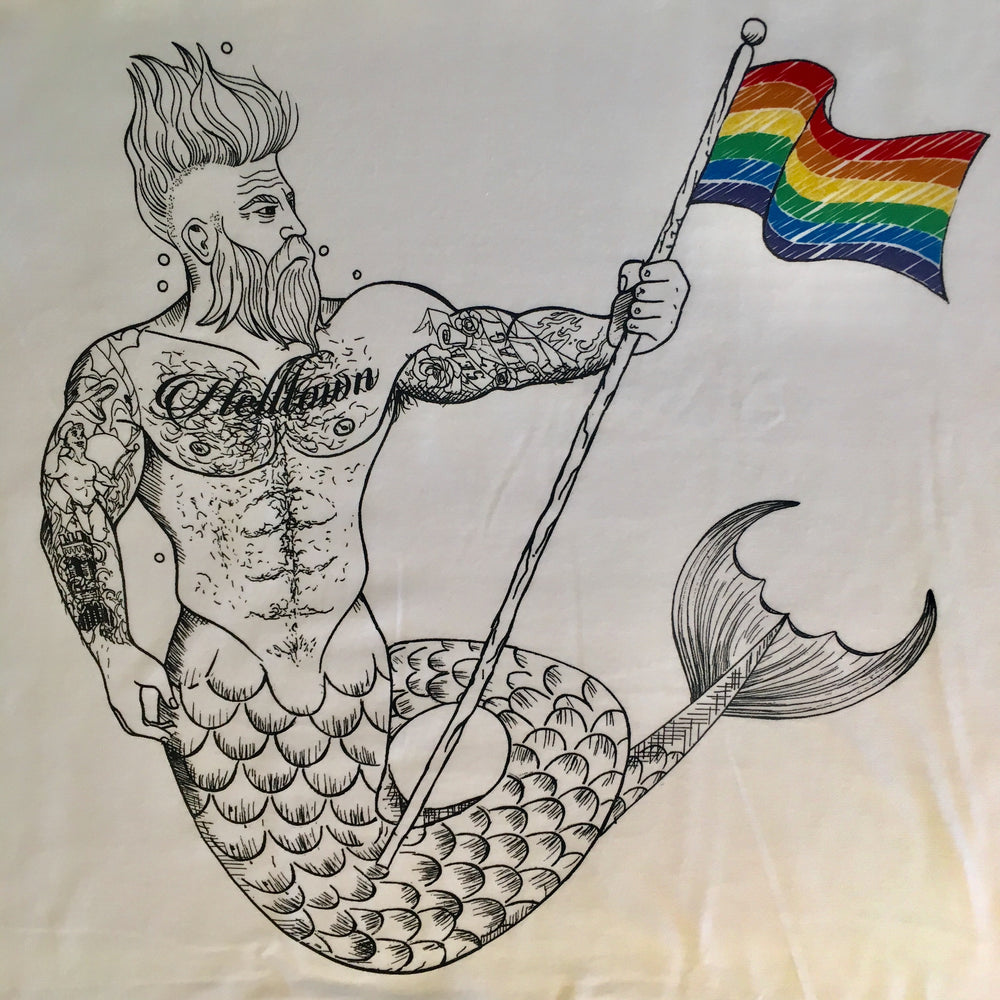 Rainbow Helltown Merman Tee Shirt