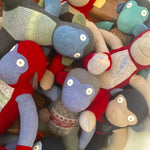 Recycled Wool Stuffed Monkeys