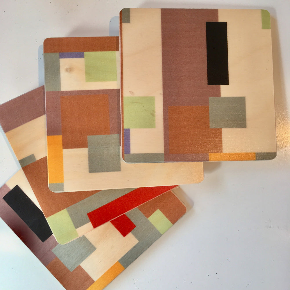 Taliesin Spring Square Coaster Set of Four