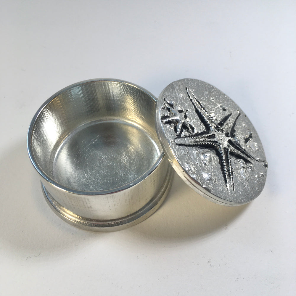 Fine Pewter Starfish Keepsake Box