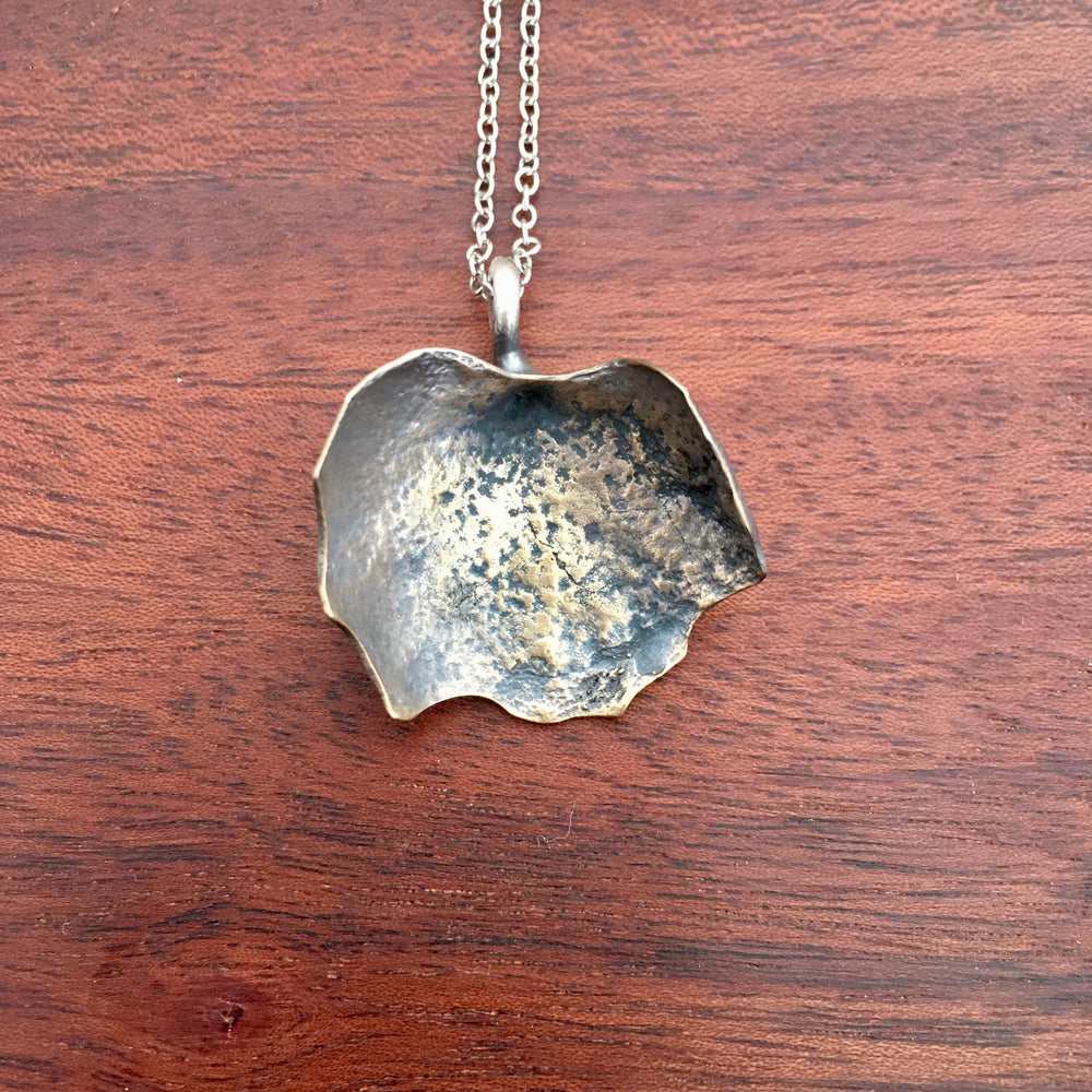 Bronze Succulent Shield Leaf Necklace