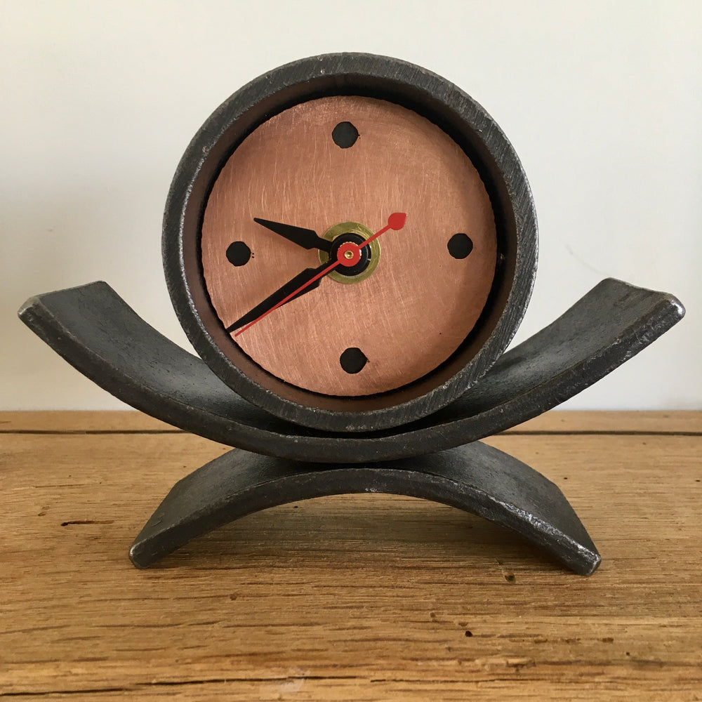 Wrought Iron Arch Clock