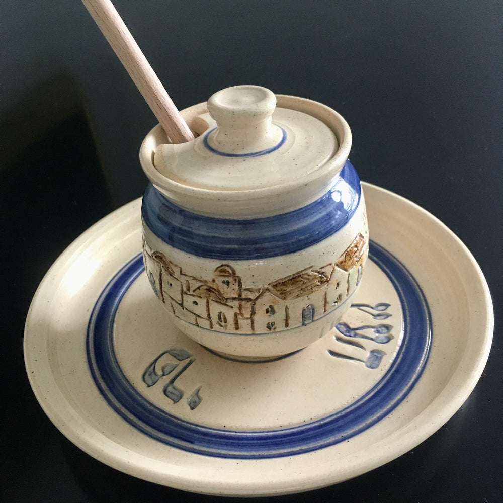 Ceramic Honey Pot Serving Set