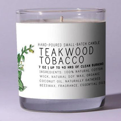 Just Bee Teakwood Tobacco Scented Candle