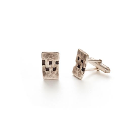 Sterling Silver Hinge Cuff Links