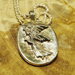 Sterling Silver Angel Coin Necklace