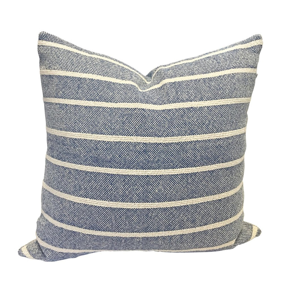 "Navy 20"" Handwoven Cotton Pillow"
