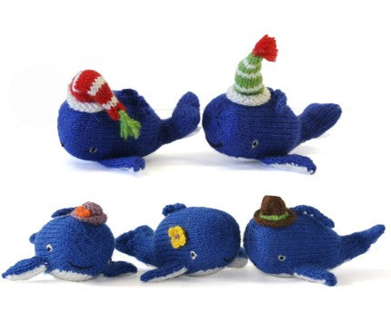 Alpaca Knit Christmas Whale Ornament