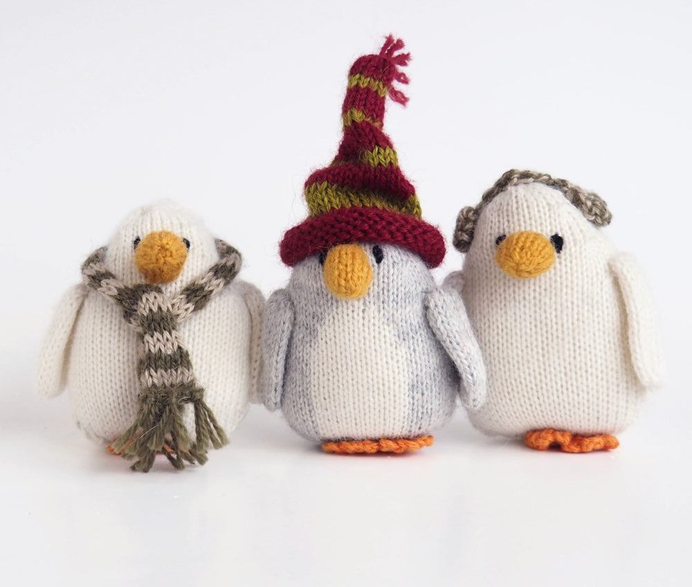 Alpaca Knit Penguin with Winter Clothing Ornament