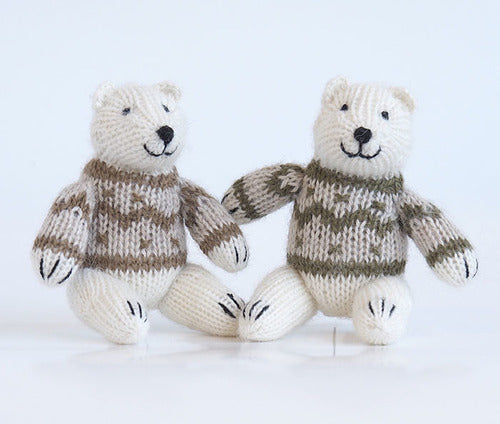 Alpaca Knit Polar Bear in a Sweater Ornament
