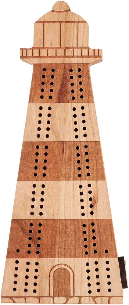 Lighthouse Cribbage Board