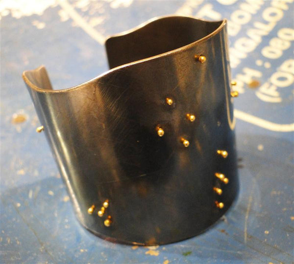 Midnight Sky Sterling and 18K Gold Cuff