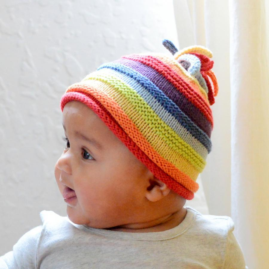 Fair Trade Cotton Rainbow Beanie Hat