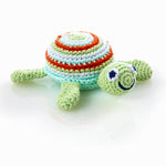 Fair Trade Cotton Turtle Baby Rattle