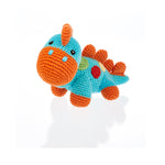 Fair Trade Cotton Dinosaur Baby Rattle