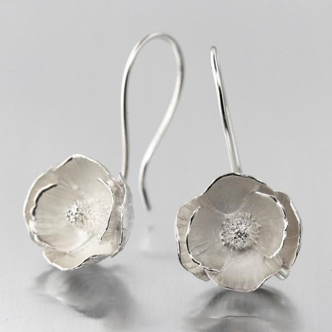 Poppy Sterling Silver Loop Earrings