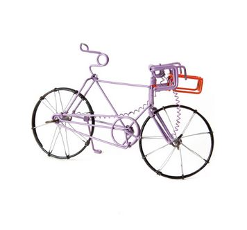 Recycled Purple Wire Bicycle
