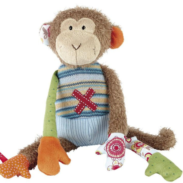 Patchwork Semi Plush Monkey
