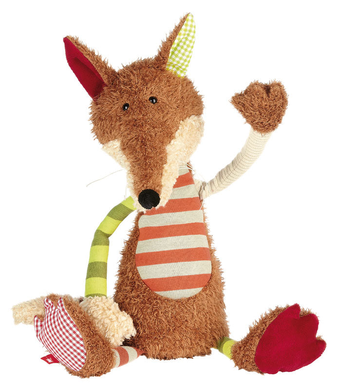 Patchwork Semi Plush Striped Fox