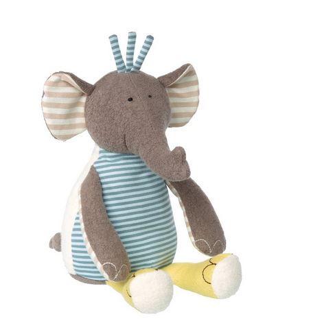 Organic Patchwork Plush Elephant