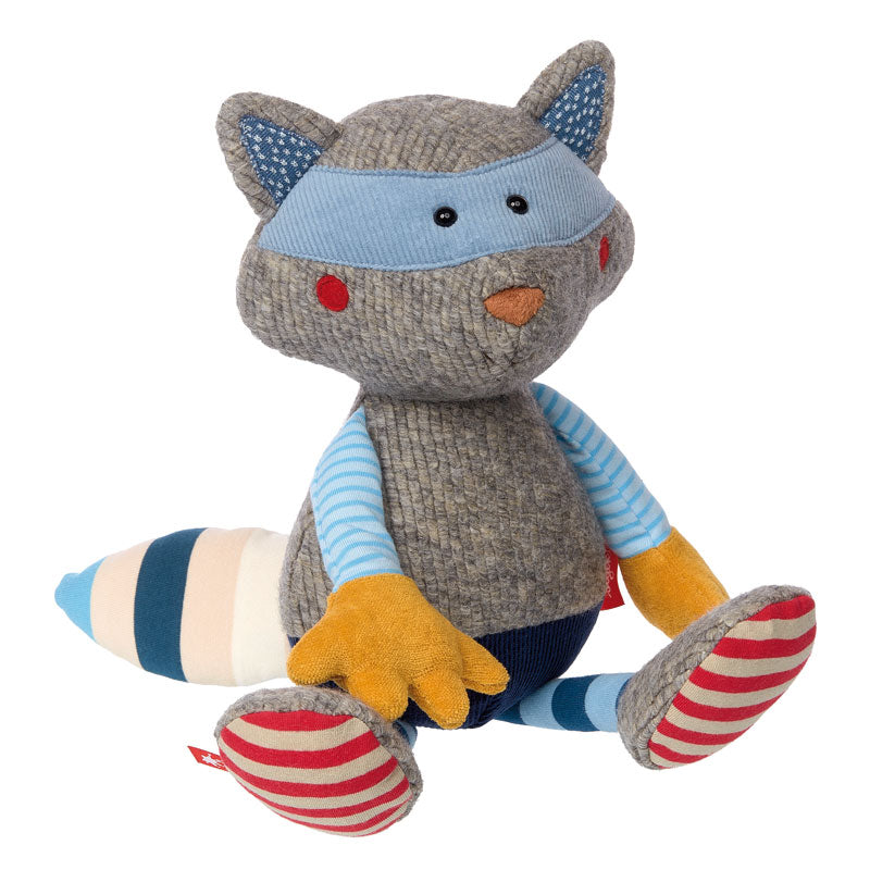 Patchwork Semi Plush Racoon