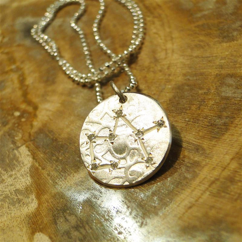 Sagittarius Constellation Diamond Necklace