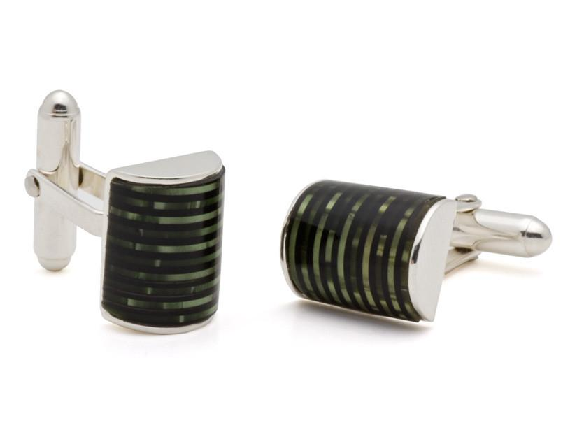 Celluloid Barrel Cuff Links
