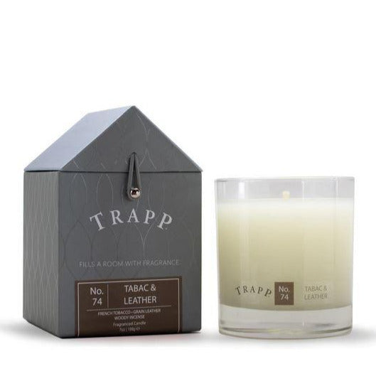 Trapp No 74 Tabac and Leather Scented Candle