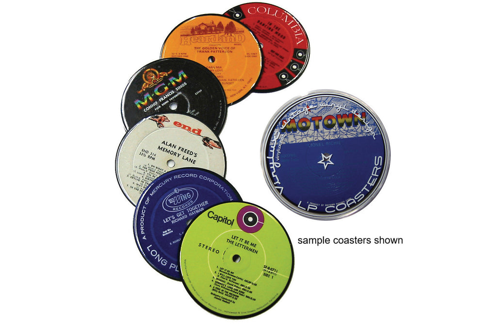 Recycled Record Coasters Set of Six