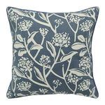 "Fair Trade French Blue Frangipani 18"" Square Pillow"