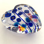 Poppies Art Glass Hearts