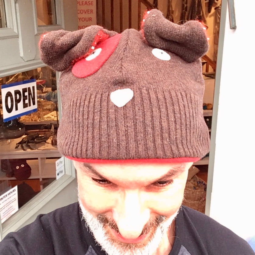 Upcycled Sweater Puppy Hat