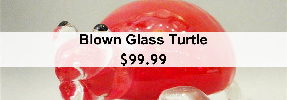 Blown Glass Turtle $99.95