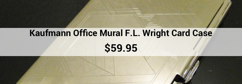 Kaufmann Office Mural F. L. Wright Card Case $59.95