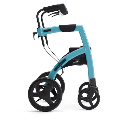Fullonwalkers.com Triumph Mobility Small Island Blue Rollz Motion 2 Side View Rollator Walkers for Elderly SKU 510-2011rm0011