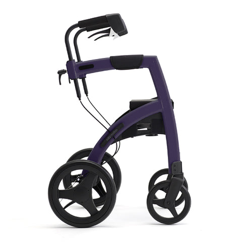Fullonwalkers.com Triumph Mobility Deep Purple Rollz Motion 2 Side View Rollator Walkers for Seniors SKU 510-2010RM0013