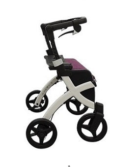 Fullonwalkers.com Triumph Mobility Small Bright Purple Rollz Flex Main View Rollator Walkers for Seniors SKU 3011RF0001
