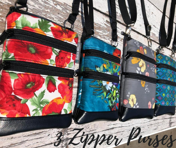 3 Zippered Bags and Tablet Bags