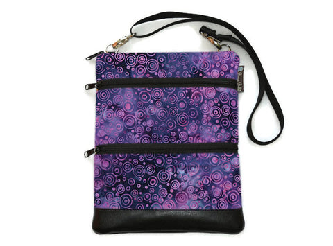 Travel Bags Crossbody Purse - Cross Body - Faux Leather - Tablet Purse - Plum Perfect Fabric