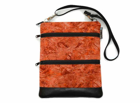 Travel Bags Crossbody Purse - Cross Body - Faux Leather - Tablet Purse - Marmalade Fabric