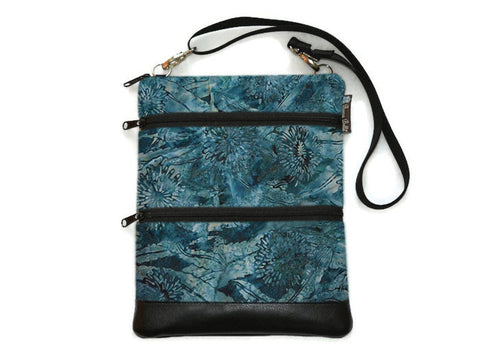 Travel Bags Crossbody Purse - Cross Body - Faux Leather - Tablet Purse -  Serenity Fabric