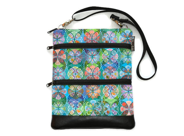Travel Bags Crossbody Purse - Cross Body - Faux Leather - Tablet Purse -  Pastel Perfect Fabric