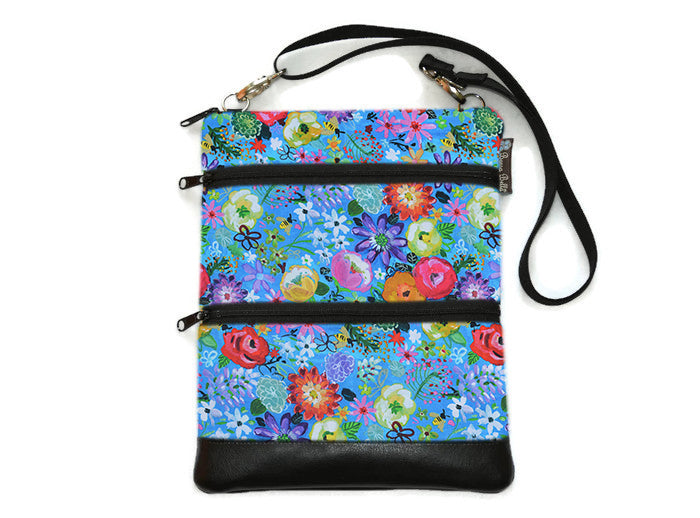 Travel Bags Crossbody Purse - Cross Body - Faux Leather - Tablet Purse - Stella Fabric