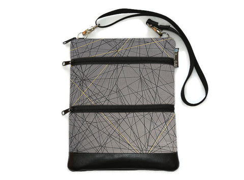 Travel Bags Crossbody Purse - Cross Body - Faux Leather - Tablet Purse -  Tight Rope Fabric