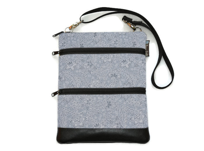 Travel Bags Crossbody Purse - Cross Body - Faux Leather - Tablet Purse -  Tranquility Fabric