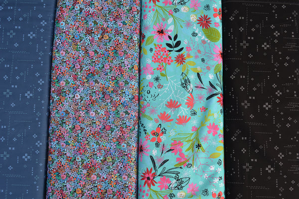 Deluxe Long Zip Phone Bag - Converts to Cross Body Purse - 3 Wishes Fabric