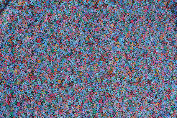 Convertible Backpack Flaps -   Mini Wild Flowers Fabric