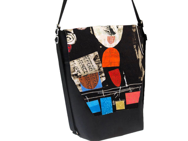 Convertible Backpack Bag -  Art Deco Fabric