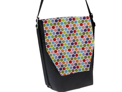 Convertible Backpack Bag - Hexadelic Fabric