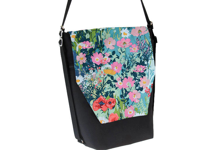Convertible Backpack -  I come to the garden...  Fabric